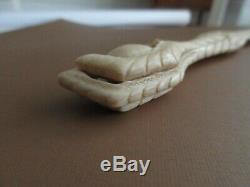 Antique, 19th Century, STUNNING! CARVED CLAW HOLDING EGG, page turner, letter opener