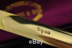 Antique English Gold Letter opener by William Leuchars (1876-1888) original box