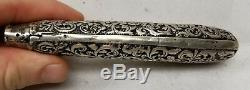 Antique English Repousse Sterling Silver Hallmarked Birmingham Page Turner