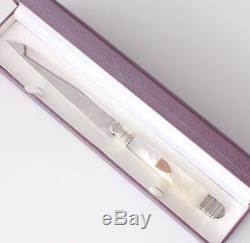 Antique French Silver & Mother Of Pearl Letter Opener Gift c1880 Emile Puiforcat