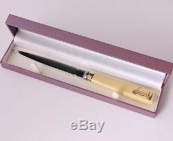 Antique Golf Letter Opener. Silver Golfer. Gift Boxed. William Hutton 1901
