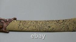 Antique Japanese Mixed Metal Letter Opener Meiji Period