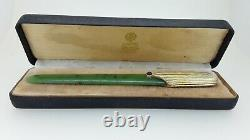 Antique Russian Silver Gilt and Nephrite Letter Opener