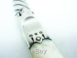 Antique Silver Letter Opener, Mother of Pearl, Sterling, Hallmarked 1899
