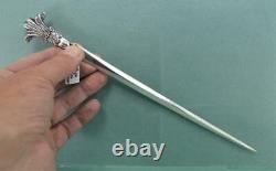 Antique Silver Plated Edward V11 Prince of Wales Letter Opener 1841 W. H & Sons