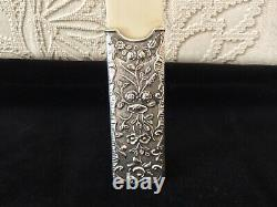 Antique Solid Silver Ornate Rococo Page Turner Letter Opener A&j Zimmerman 1903