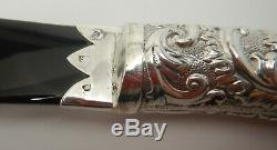 Antique Victorian Solid Silver Letter Opener / Page Turner London 1894 Scimitar