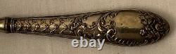 Antique boxed dip pen and letter opener with silver shaft and opener handle, wit