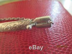 Antique solid silver page marker / letter opener with a clip unusual item