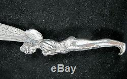 Art Nouveau Letter Opener Dragonfly Winged Nude C1890's