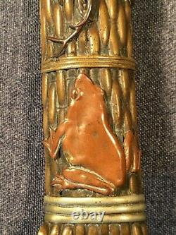 Beautiful Antique Meiji Japanese Mixed Metals Letter Opener Page Turner Signed