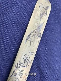 Beautiful Antique Meiji Period Mixed Metal Japanese Letter Opener Page Turner