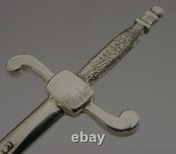 Beautiful Cased English Solid Sterling Silver Novelty Letter Opener 1984