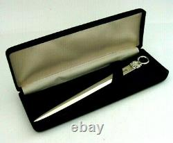 Beautiful Cased English Solid Sterling Silver Shell Letter Opener 1968