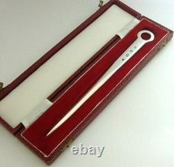 Beautiful Cased English Solid Sterling Silver Skewer Letter Opener 1981