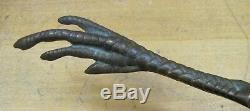 DE-OXIDIZED BRONZE CHICKEN CLAW FOOT Old Advertising Letter Opener Page Turner