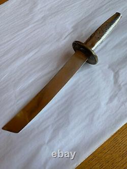 Dominick & Haff Japanese Style Sterling Tanto Mixed Metal Tsuba Letter Opener