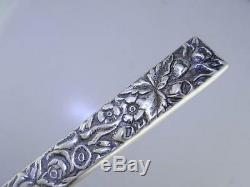Early Coin Silver S KIRK & SON Letter Opener with Square Handle REPOUSSE 10.15