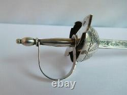 Extemely Rare Victorian Clononial Silver Officers Novelty Letter Opener