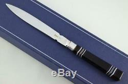 Georgian London Solid Silver Bladed Agate Handled Letter Opener 1817