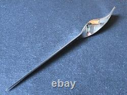 Heavy Millenium Solid Sterling Silver Letter Opener 88.5g Twist Style Handle