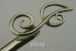 LONG BEAUTIFUL ENGLISH STERLING SILVER BOOKMARK LETTER OPENER 1904 ANTIQUE 16g