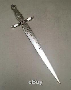 Large Sterling Medallion Letter Opener By Theodore B. Starr