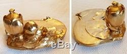 Muesum Quality BOUVAL Art Nouveau Inkwell letter opener Gold bronze statue 19th