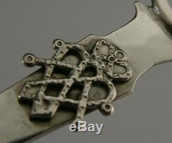Quality Scottish Sterling Silver Arts & Crafts Hand Made Letter Opener Mull