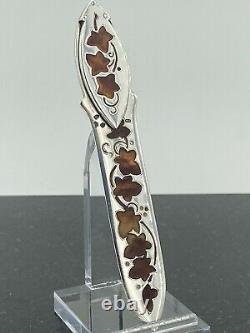 RARE INLAY Tiffany & Co Sterling Letter Opener Bookmark 1894 Atkin London