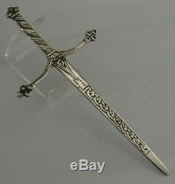 Rare Alexander Ritchie Sterling Silver Celtic Letter Opener 1937 Iona Antique