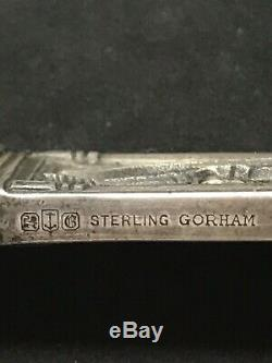 Rare Antique Gorham Sterling Silver Knight Letter Opener 10.75'