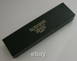 Rare Boxed Solid Sterling Silver Blue John Letter Opener 1991 Ralph Weston