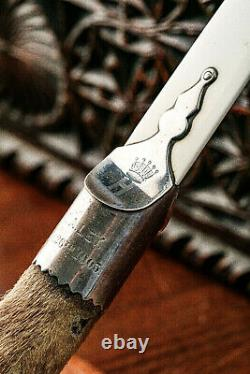 Rare Coronet Antique Page Turner Desk Letter Opener Taxidermy Hunting Trophy