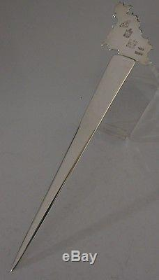 Rare Guernsey Letter Opener Planished Solid Silver 2003 Simon Russell