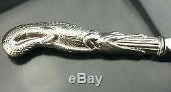 SOLID STERLING Silver LETTER OPENER CROCODILE 3oz Fabulous item/gift