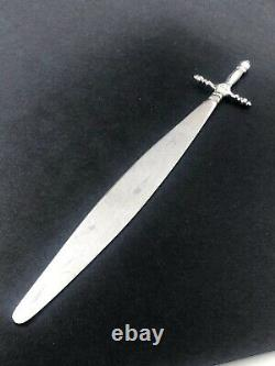 Silver & Niello letter opener middle east circa 1920