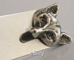 Solid Silver Fox Letter Opener Hunting Shooting Riding London 1973