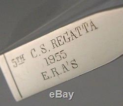 Solid Silver Rowing Oar Letter Opener Chinese 1955 China Sea Regatta Hong Kong