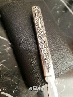 Sterling Silver Nude Repousse Letter Opener Vintage Antique