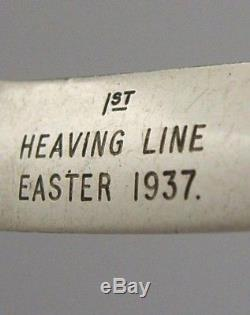 Sterling Silver Royal Navy Rowing Oar Letter Opener 1936 Military Antique