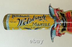 TIN LITHO Antique Welsbach Gas Lamp Light Mantle PIN Letter Opener Tip Tray Lot