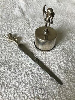 Tiffany And Company Of New York Stamp Dispenser And Letter Opener