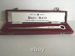VINTAGE SOLID SILVER LETTER OPENER by Francis Howard London. 1978 MINT