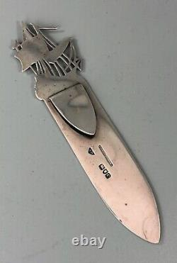 Victorian Silver Nautical Style Silver Bookmark / Letter Opener James Dudley GZX