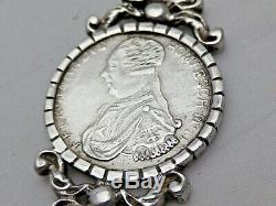 Vintage Solid Silver Letter Opener with Malta St John Coin 1798 (1168-B-LAY)