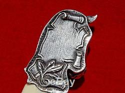 WONDERFUL QUALITY STERLING SILVER LETTER OPENER / PAPER KNIFE HORSE HEAD dagger